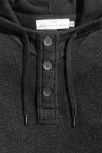 Knitted hooded jumper - Black marl - Men | H&M 3