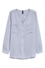 V-neck blouse - Lavender - Ladies | H&M CN 2