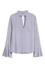 Blouse with trumpet sleeves - Light heather - Ladies | H&M CN 2