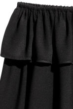 Short off-the-shoulder blouse - Black - Ladies | H&M 3