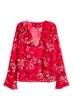 Frilled blouse - Red/Floral - Ladies | H&M 2