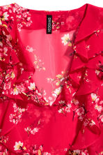 Frilled blouse - Red/Floral - Ladies | H&M CN 3