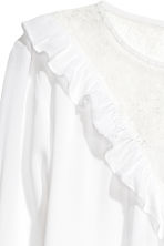 Blouse with a lace yoke - White - Ladies | H&M 3