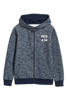 Marled hooded jacket