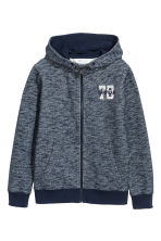 Marled hooded jacket - Dark blue marl - Kids | H&M 2