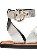 Leather sandals - Silver - Ladies | H&M 5