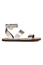 Leather sandals - Silver - Ladies | H&M 2