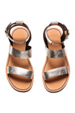 Leather sandals - Silver - Ladies | H&M 3