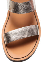 Leather sandals - Silver - Ladies | H&M 4