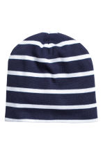 2-pack jersey hats - Dark blue/Striped -  | H&M CN 2