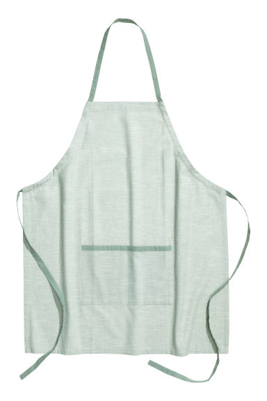 Cotton apron - Dusky green - Home All | H&M CN 1