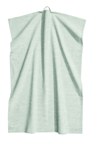 Slub-weave tea towel - Dusky green - Home All | H&M CN 1