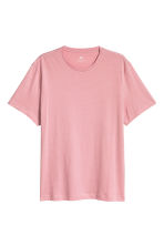 Round-neck T-shirt Regular fit - Pink - Men | H&M CN 2