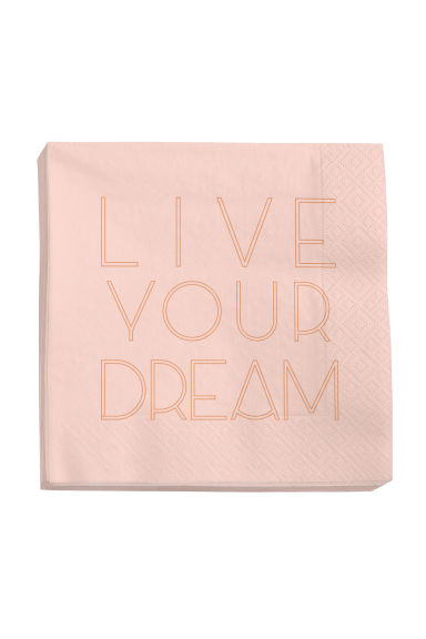 Serviettes en papier - Rose clair - Home All | H&M FR