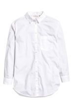 Wide cotton shirt - White - Ladies | H&M 2