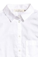 Wide cotton shirt - White - Ladies | H&M 3