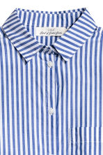 Wide cotton shirt - Blue/White/Striped - Ladies | H&M CN 3