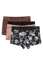 3-pack boxer shorts - Black/Roses - Men | H&M CN 2