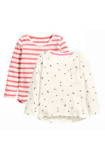 2-pack tops - Natural white/Heart -  | H&M 2