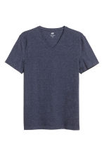 V-neck T-shirt Slim fit - Dark blue marl - Men | H&M 2