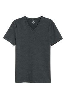 T-shirt scollo a V Slim fit