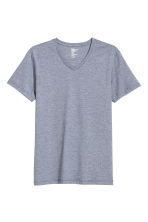 T-shirt scollo a V Slim fit - Blu/a righine - UOMO | H&M IT 2
