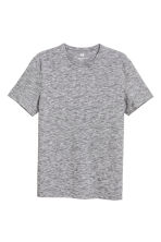 Round-neck T-shirt Slim fit - Grey/Fine stripe - Men | H&M 2