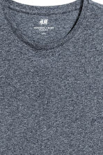 Round-neck T-shirt Slim fit - Dark blue marl - Men | H&M CN 3
