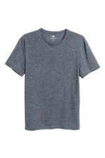Round-neck T-shirt Slim fit - Dark blue marl - Men | H&M CN 2