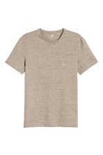 Round-neck T-shirt Slim fit - Beige marl - Men | H&M 2