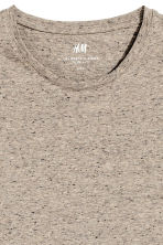 Round-neck T-shirt Slim fit - Beige marl - Men | H&M 3