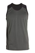 Sports vest top - Dark grey - Men | H&M CN 2