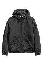 Padded jacket with a hood - Black - Men | H&M CN 2