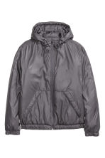 Padded jacket with a hood - Dark grey - Men | H&M 2