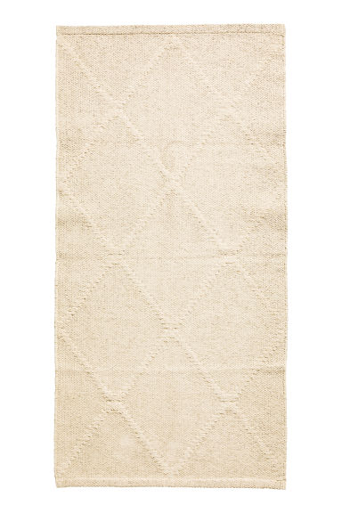 Jacquard-patterned cotton rug - Light beige - Home All | H&M CN 1