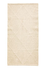 Tapis jacquard en coton - Beige clair - Home All | H&M FR 1