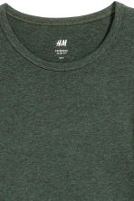 Long-sleeved T-shirt Slim fit - Dark green marl - Men | H&M 3