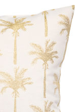 Jacquard-pattern cushion cover - White/Palms - Home All | H&M CN 2