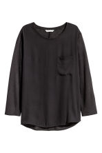 Top with a woven front - Black - Ladies | H&M 2