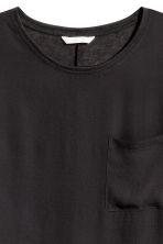 Top with a woven front - Black - Ladies | H&M CN 3