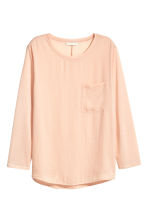 Top with a woven front - Powder - Ladies | H&M 2