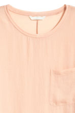 Top with a woven front - Powder - Ladies | H&M 3