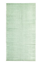Tapis en coton à motif - Vert clair - Home All | H&M FR 1
