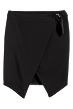 Wrap skirt - Black - Ladies | H&M CN 2