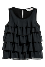 Tiered top - Black -  | H&M CN 2