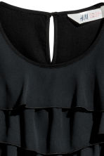 Tiered top - Black -  | H&M CN 3