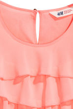 Top con volant - Rosa corallo -  | H&M IT 3