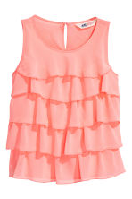 Top con volant - Rosa corallo -  | H&M IT 2