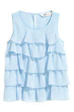 Tiered top - Light blue - Kids | H&M CN 2