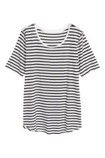 Top in jersey - Bianco/nero righe - DONNA | H&M IT 2